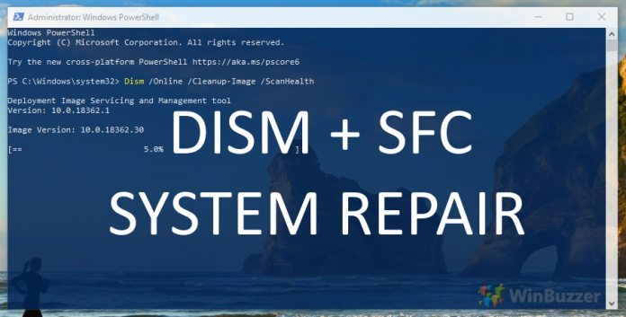 FEATURED-How-to-repair-the-Windows-10-system-using-DISM-and-SFC-696×353